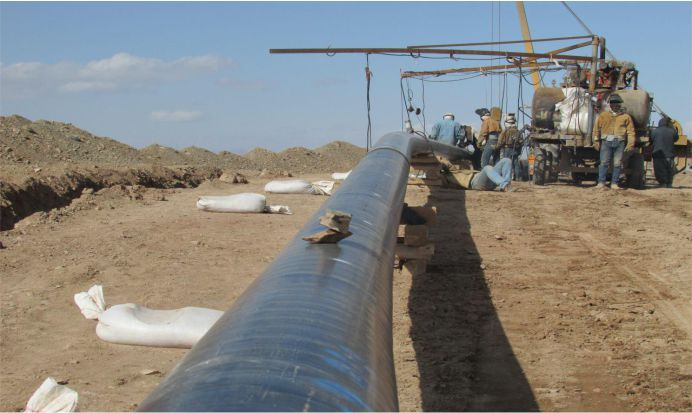خط انتقال گاز سربیشه به نهبندان بطول 130 کیلومتر